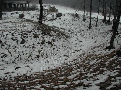 Újezd, tvrziště Pustý zámek, Doubravka, archeologické stopy