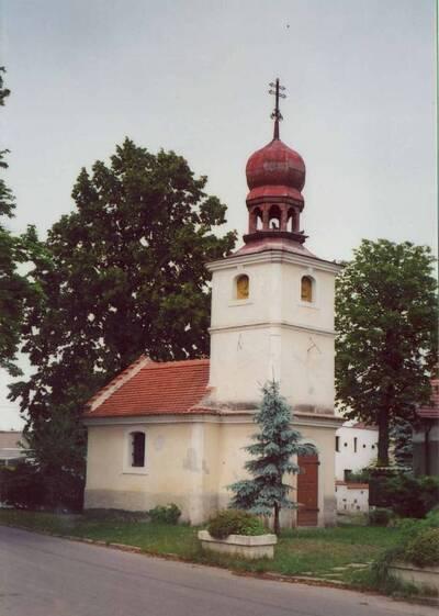 Lázně Toušeň, kaple sv. Floriána, pohled z jihovýchodní strany