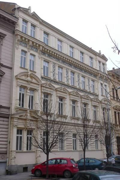 Brno, okres Brno-město, činžovní dům Franze Ruschky č.p. 1927, třída Kapitána Jaroše č.o. 8, pohled na uliční průčelí