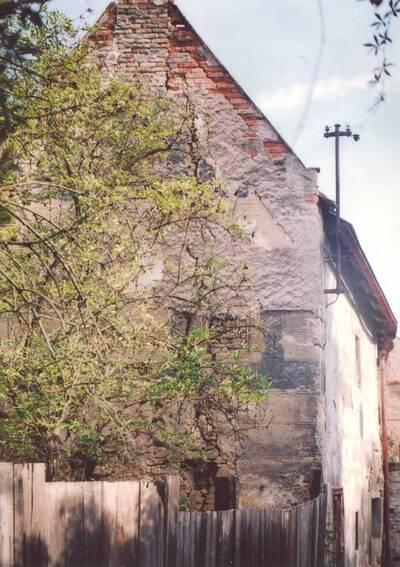 Lázně Toušeň, areál mlýna, dům čp. 30, pohled z jihovýchodní strany