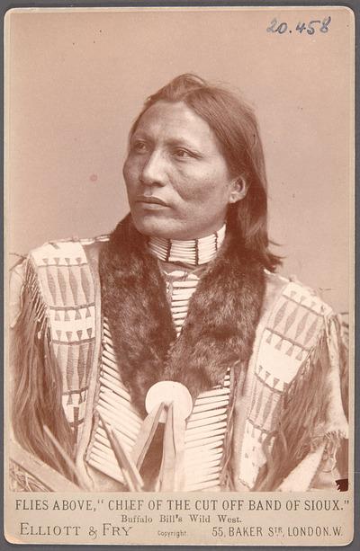 Flies Above, Kiyuksa-Chief, Akteur in Buffalo Bill's Wild West