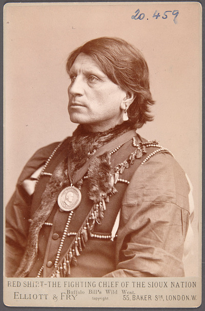 Red Shirt, Sioux-Chief, Akteur in Buffalo Bill's Wild West