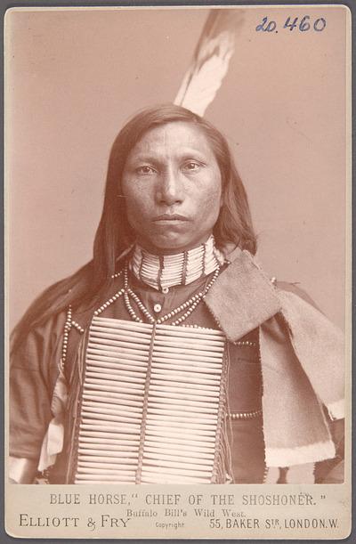Blue Horse, Shoshone-Chief, Akteur in Buffalo Bill's Wild West