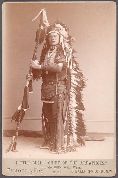 Little Bull, Arapaho-Chief, Akteur in Buffalo Bill's Wild West