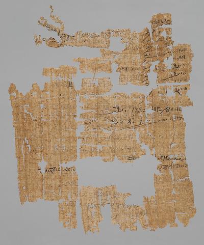 Fragmentierter hieratischer Papyrus