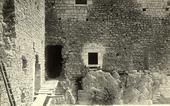 Particolare del castello di Campobasso in fase di restauro.