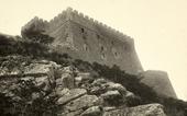 Il castello di Campobasso appena restaurato ripreso dal basso.