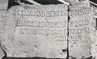 Honours for Q. Granius Caelestinus