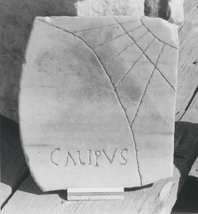Title on a sundial