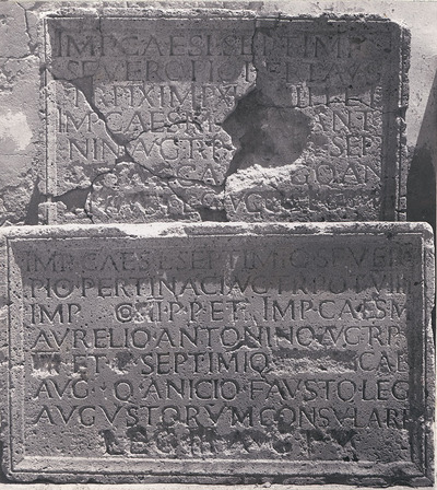 Dedication to Septimius Severus, Caracalla and Geta