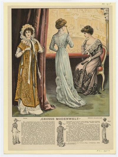 Drie vrouwefiguren in theater