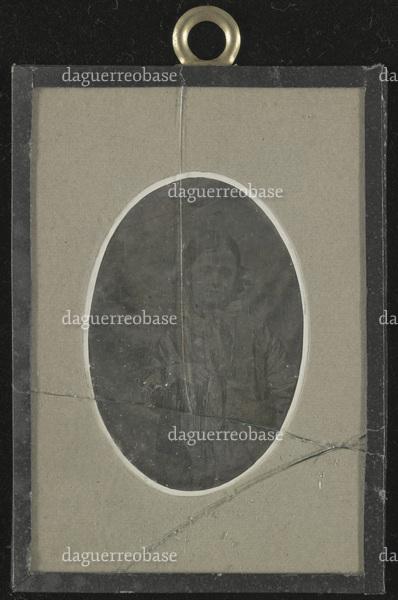 Glass with three cracks. Back indicates