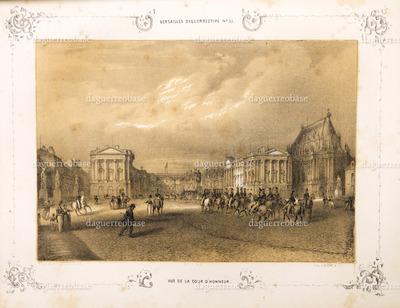 Versailles, Vue de la Cour d'Honneur.