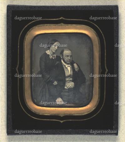 Dobbeltportræt af Andreas og Bertha Weis