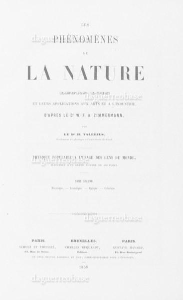 Les phénomènes de la nature, leurs lois et leurs applications aux arts et a l' industrie