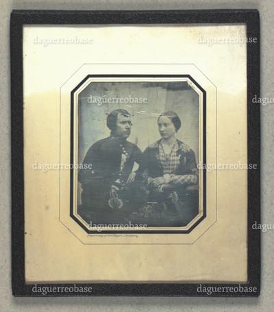 Dobbeltportræt af Hans Laurentius Kyhn og hustru Karoline Kyhn