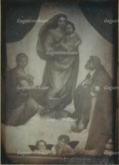 Erste Photogr. d. Sixtin. Madonna. 1850.