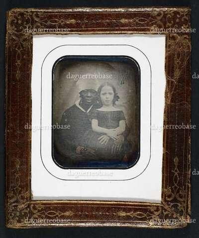 Dobbeltportræt af Louisa MacPherson Bauditz med sin amme Charlotte Hodge