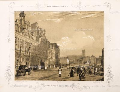 Hotel de Ville et Place de Grève.