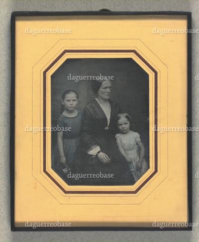 Portræt af Eleonora Randulff og døtre