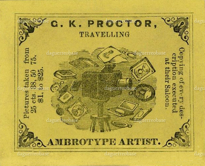 Proctor travelling Ambrotype Artist