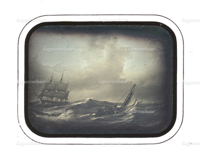 Reproduction of a painting, Seascape, storm