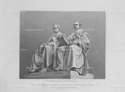William Baron Stowell and John First Lord Eldon, from the original by M. Watson