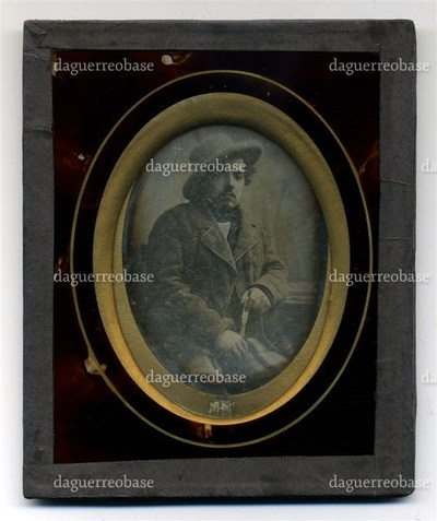 conservation done. Daguerreotypist advertising printed on the back