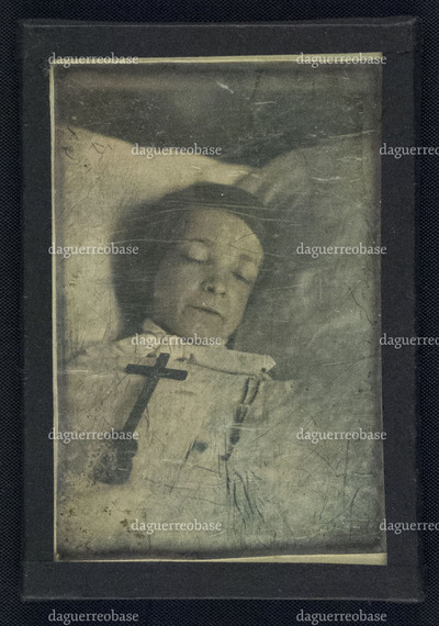 Post-mortem portrait of an unknown child.