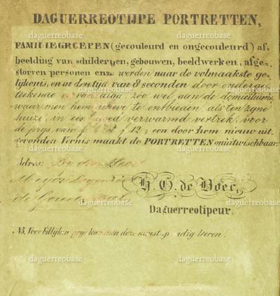 H. G. de Boer Daguerreotipeur