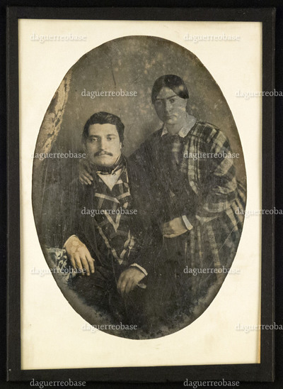 Portrait of unknown man and woman