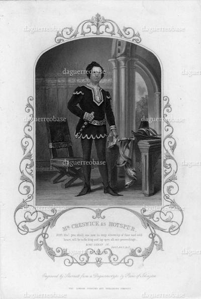 Mr. Creswick as Hotspur
