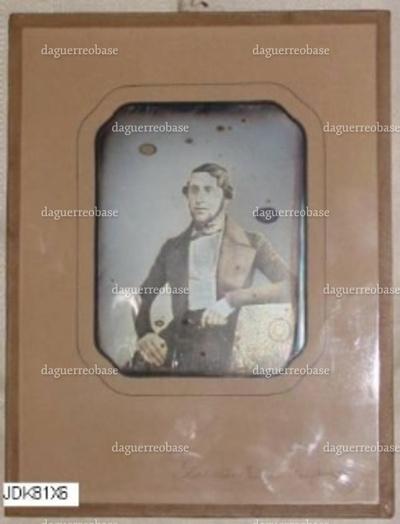 Daguerreotypi i glasramme omkring 1844.Motiv: Levin Cosman Levysohn i en alder af 29 år.