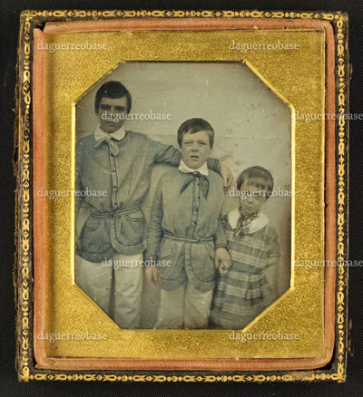 Portrait of three unknown boys