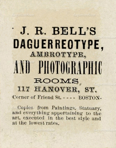 Bell's Daguerreotype, Ambrotype, and Photographic rooms