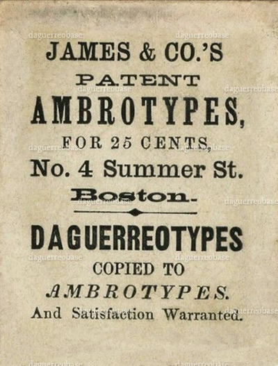 James & Co's patent Ambrotypes