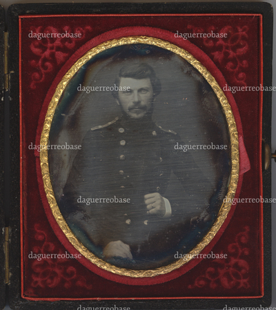 Portrait of an unknown man in a military uniform