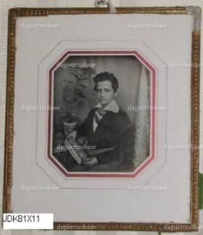 Indrammet daguerreotypi, portræt af Moritz Meyer (1831-1888).