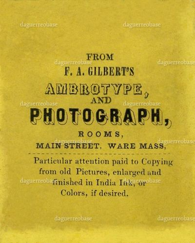 Gilbert's Ambrotype and photograph, Rooms