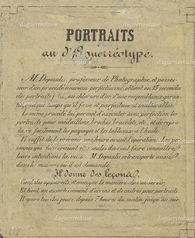 photographer label of Depaulis, France