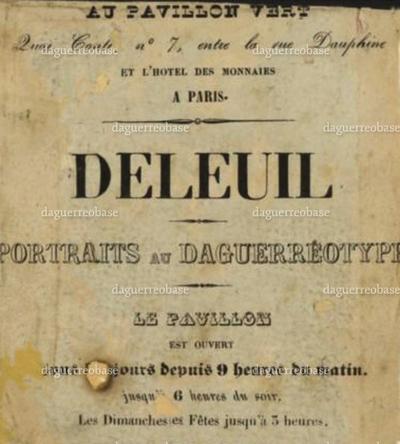 photographer label of Deleuil, Paris, France
