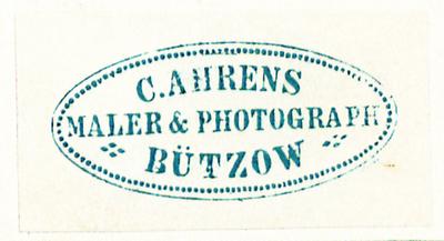 Etikett von C. Ahrens