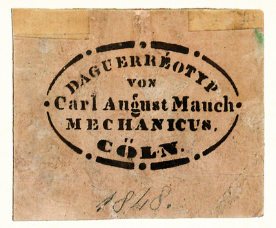 Fotografenstempel von Carl August Mauch
