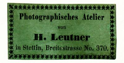 Etikett von H. Leutner