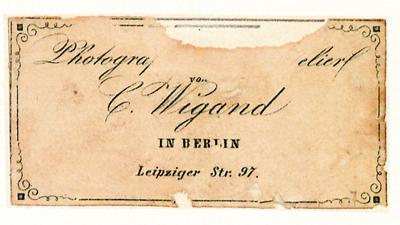 Etikett von C. Wigand