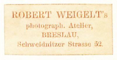 Etikett von Robert Weigelt