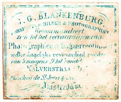 Etikett von J. G. Blankenburg