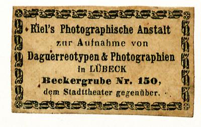 Etikett von Riel's Photographische Anstalt