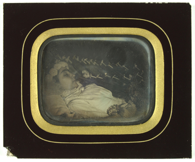 Postmortem portrait of a girl