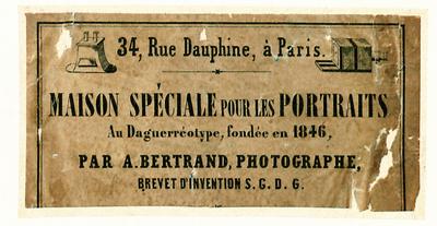 Etikett von A. Bertrand
